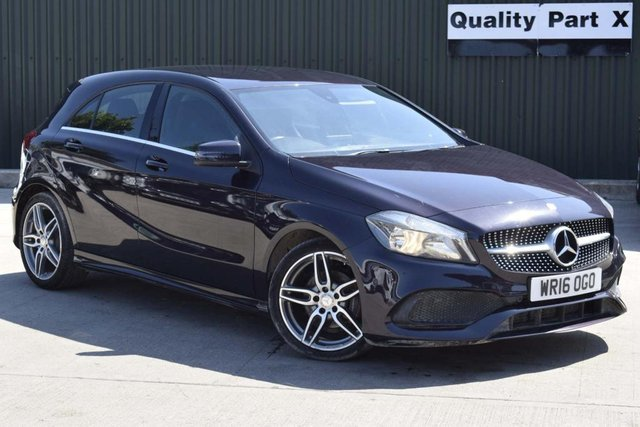 USED 2016 16 MERCEDES-BENZ A-CLASS 2.1 A200d AMG Line (Executive) 7G-DCT (s/s) 5dr 1OWNER SATNAV LEATHERS CAMERA