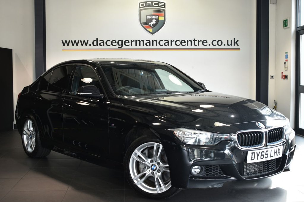 """USED 2015 65 BMW 3 SERIES 3.0 335D XDRIVE M SPORT 4DR AUTO 308 BHP Finished in a stunning sapphire metallic black styled with 18"""" alloys. Upon opening the drivers door you are presented with full leather interior, satellite navigation, bluetooth, cruise control, DAB radio, Automatic air conditioning, LED Fog lights, light package,  Rain sensors, parking sensors"""