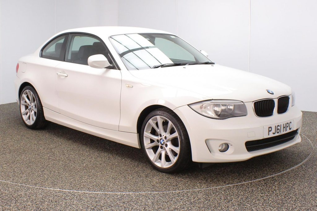 USED 2012 61 BMW 1 SERIES 2.0 120D SPORT 2DR 175 BHP FULL SERVICE HISTORY + BLUETOOTH + MULTI FUNCTION WHEEL + AIR CONDITIONING + RADIO/CD/AUX/USB + ELECTRIC WINDOWS + ELECTRIC MIRRORS + 18 INCH ALLOY WHEELS