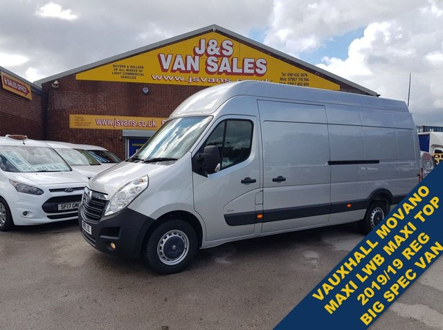 USED 2019 19 VAUXHALL MOVANO VAN L4H3 R3500 EXTRA LWB MAXI ROOF ( NICE SPEC ) (((( LOTS MORE EURO 6 VANS ON SITE OVER 100 )))