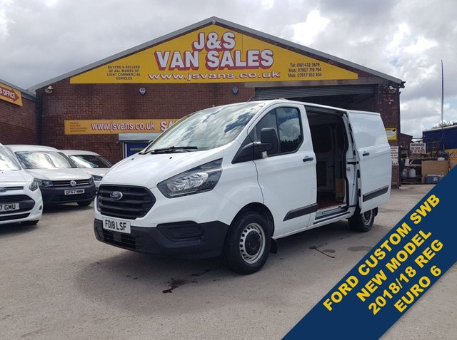 USED 2018 18 FORD TRANSIT CUSTOM 2.0 300 BASE SWB LOW TOP VAN 1 OWNER  (((( LOTS MORE EURO 6 VANS ON SITE OVER 100 )))