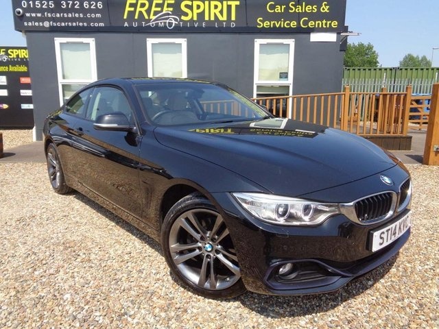 USED 2014 14 BMW 4 SERIES 2.0 420d Sport xDrive 2dr 1 Owners, Leather, Bluetooth