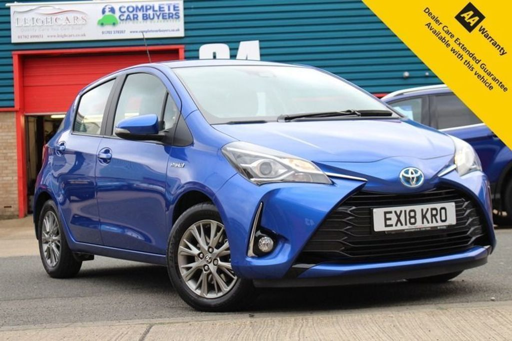 USED 2018 18 TOYOTA YARIS 1.5 VVT-I ICON 5d 73 BHP ** 1 OWNER ** FULL TOYOTA SERVICE HISTORY ** 2.5 YEARS TOYOTA WARRANTY LEFT ** REAR PARKING CAMERA - CLIMATE CONTROL - CRUISE CONTROL - LANE DEPARTURE SYSTEM ** ULEZ COMPLIANT - HYBRID 75co2 - 85MPG ** FINANCE AVAILABLE **