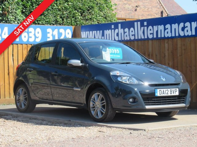 USED 2012 12 RENAULT CLIO 1.5 DYNAMIQUE TOMTOM DCI 5d 88 BHP CLEAN CAR WITH SERVICE HISTORY