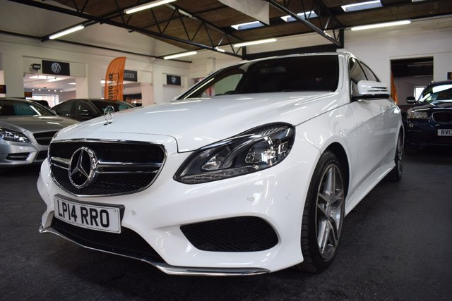 USED 2014 14 MERCEDES-BENZ E-CLASS 3.0 E350 BLUETEC AMG SPORT 4d 249 BHP LOVELY LOW MILEAGE EXAMPLE - AMG SPORT - 18 ICN AMG ALLOYS - PRIVACY GLASS - SAT NAV - HEATED SEATS - FRONT AND REAR CAMERAS