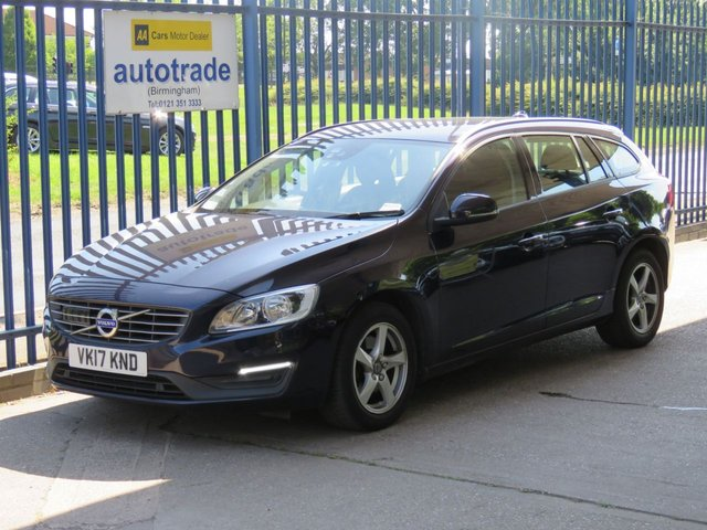 USED 2017 17 VOLVO V60 2.0 D2 BUSINESS EDITION 5d 118 BHP automatic sat nav parking sensors ulez compliant volvo history sat nav, volvo history, front and rear parking sensors, automatic gearbox, blind spot indicators, active cruise control, low speed accident prevention, active braking.