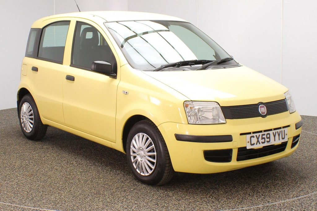 USED 2009 59 FIAT PANDA 1.1 ACTIVE ECO 5DR 54 BHP SERVICE HISTORY + £30 12 MONTHS ROAD TAX + BLAUPUNKT RADIO WITH CD PLAYER + AUX/USB PORTS + ELECTRIC WINDOWS + CITY ASSIST POWER STEERING MODE + ULEZ EXEMPT