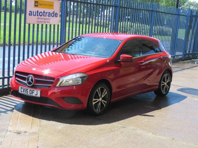 USED 2015 15 MERCEDES-BENZ A-CLASS 1.6 A180 BLUEEFFICIENCY SE 5dr 122 Sat nav prep Leather Blueooth & audio Privacy 1/2 leather climate control nav prepared history