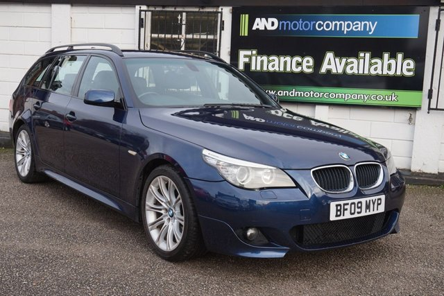 USED 2009 09 BMW 5 SERIES 2.0 520D M SPORT TOURING 5d 175 BHP FSH 10 Service Stamps, Sat Nav, F+R Parking Aid