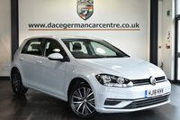 "USED 2018 18 VOLKSWAGEN GOLF 1.6 SE NAVIGATION TDI BLUEMOTION TECHNOLOGY 5DR 114 BHP Finished in a stunning silver  styled with 16"" alloys. Upon opening the drivers door you are presented with cloth upholstery, full service history, satellite navigation, bluetooth, DAB radio, cruise control, multi functional steering wheel, heated electric folding mirrors, parking sensors"