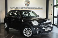 "USED 2016 16 MINI COUNTRYMAN 2.0 COOPER SD 5DR 141 BHP Finished in a stunning absolute metallic black styled with 17"" alloys. Upon opening the drivers door you are presented with carbon black upholstery, full service history, bluetooth, DAB radio, sport seats, LED Fog lights, sport button, heated mirrors, Auto start/stop function, parking sensors"