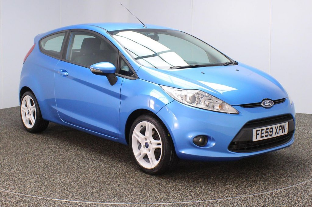 USED 2009 59 FORD FIESTA 1.6 ZETEC S 3DR 118 BHP FULL SERVICE HISTORY + MULTI FUNCTION WHEEL + AIR CONDITIONING + RADIO/CD/AUX + ELECTRIC WINDOWS + ELECTRIC MIRRORS + 16 INCH ALLOY WHEELS