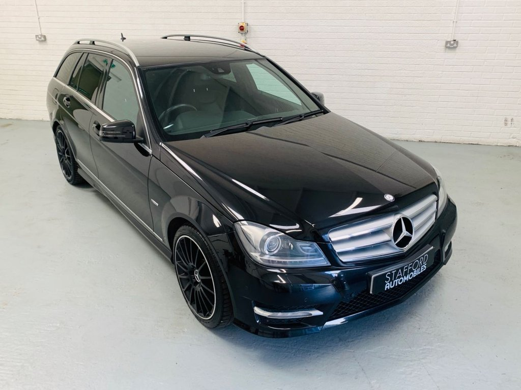 USED 2011 61 MERCEDES-BENZ C-CLASS 2.1 C200 CDI BLUEEFFICIENCY SPORT EDITION 125 5d 136 BHP SAT NAV, HEATED LEATHER INTERIOR