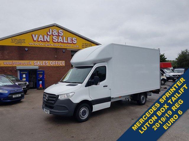 USED 2019 19 MERCEDES-BENZ SPRINTER 314 CDI FWD 141 BHP LUTON BOX VAN TAILIFT BOX LOW MLS  (((( LOTS MORE EURO 6 VANS ON SITE OVER 100 )))