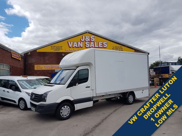 USED 2016 66 VOLKSWAGEN CRAFTER DROPWELL LUTON BOX VAN CR35 TDI ( NO ULEZ ) ((((( VW CRAFTER LUTON DROPWELL LOLOADER )))))