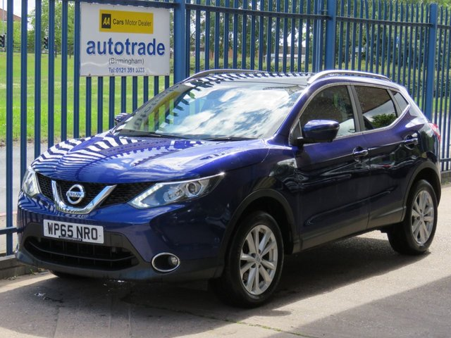 USED 2015 65 NISSAN QASHQAI 1.5 DCI TEKNA 5d 108 BHP sat nav, heated leather, 360 degree cameras, ulez compliant