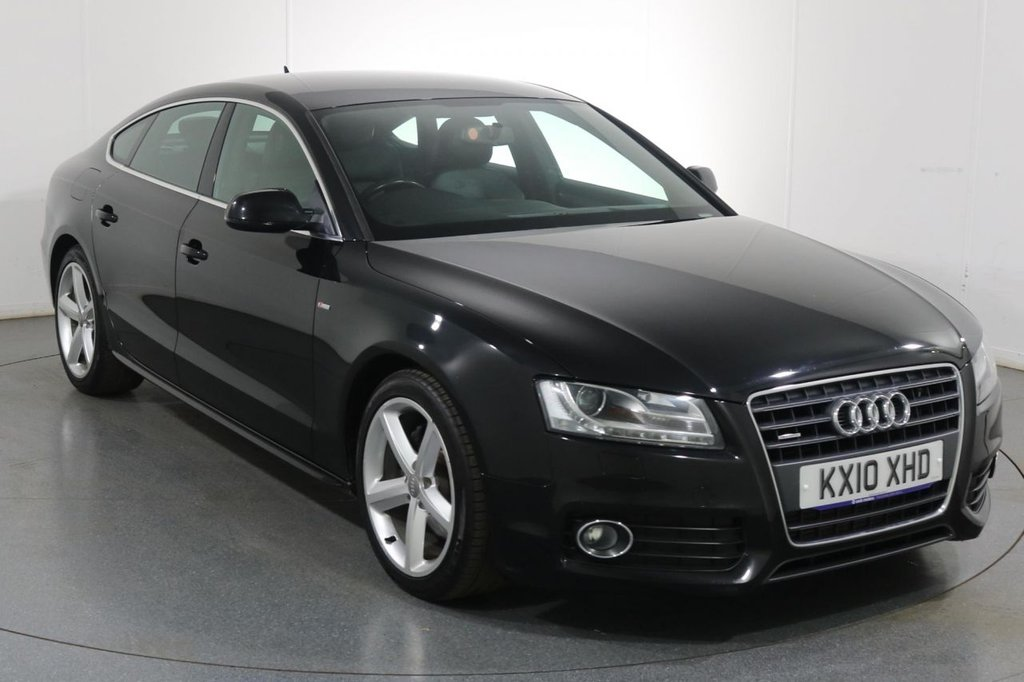 USED 2010 10 AUDI A5 2.0 SPORTBACK TFSI QUATTRO S LINE 5d 208 BHP 9 Stamp SERVICE HISTORY