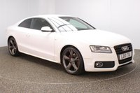 USED 2010 10 AUDI A5 2.0 TFSI S LINE SPECIAL EDITION 2DR 178 BHP FULL SERVICE HISTORY + LEATHER SEATS + BANG & OLUFSEN PREMIUM SPEAKERS + PARKING SENSOR + BLUETOOTH + CLIMATE CONTROL + MULTI FUNCTION WHEEL + XENON HEADLIGHTS + PRIVACY GLASS + DAB RADIO + AUXILIARY PORT + ELECTRIC WINDOWS + ELECTRIC/HEATED DOOR MIRRORS + 19 INCH ALLOY WHEELS