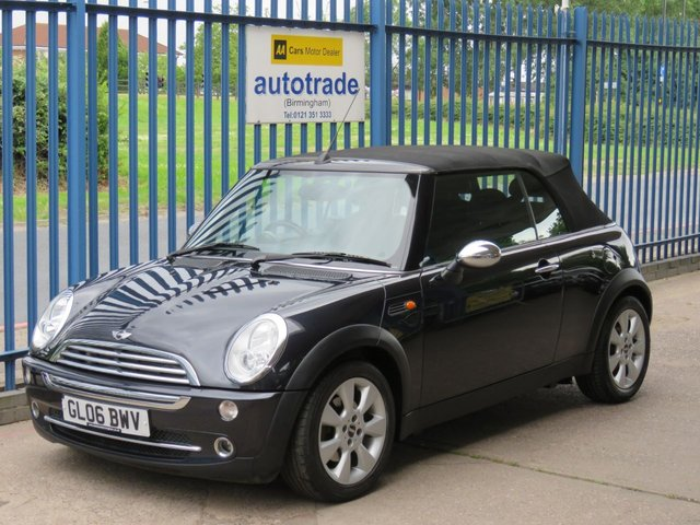 USED 2006 06 MINI CONVERTIBLE 1.6 COOPER 2d 114 BHP  dab, ulez compliant 1/2 leather PADDLE SHIFT AUTOMATIC, ELECTRIC CONVERTIBLE TOP, 1/2 LEATHER, KENWOOD DAB RADIO, REAR PARKING SENSORS