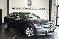 "USED 2013 13 MERCEDES-BENZ C-CLASS 2.1 C220 CDI BLUEEFFICIENCY EXECUTIVE SE 2DR AUTO 168 BHP Finished in a stunning tenorite metallic grey styled with 16"" alloys. Upon opening the drivers door you are presented with full black leather interior, full service history, bluetooth, cruise control, LED daytime running lights, DAB radio, rain sensors, multi functional steering wheel, parking sensors"
