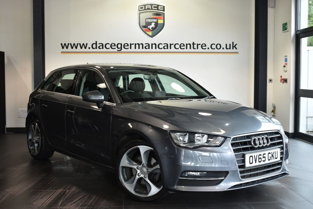 "USED 2016 65 AUDI A3 2.0 TDI SPORT 5DR AUTO 148 BHP Finished in a stunning metallic  grey styled with 18"" alloys. Upon opening the drivers door you are presented with cloth upholstery, full service history, bluetooth, DAB radio, cruise control, sport seats, multi functional steering wheel, heated mirrors"