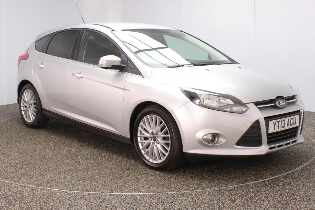USED 2013 13 FORD FOCUS 1.0 ZETEC 5DR 124 BHP SERVICE HISTORY + £30 12 MONTHS ROAD TAX + BLUETOOTH + MULTI FUNCTION WHEEL + AIR CONDITIONING + PRIVACY GLASS + DAB RADIO + AUX/USB PORTS + ELECTRIC WINDOWS + ELECTRIC/HEATED DOOR MIRRORS + 17 INCH ALLOY WHEELS