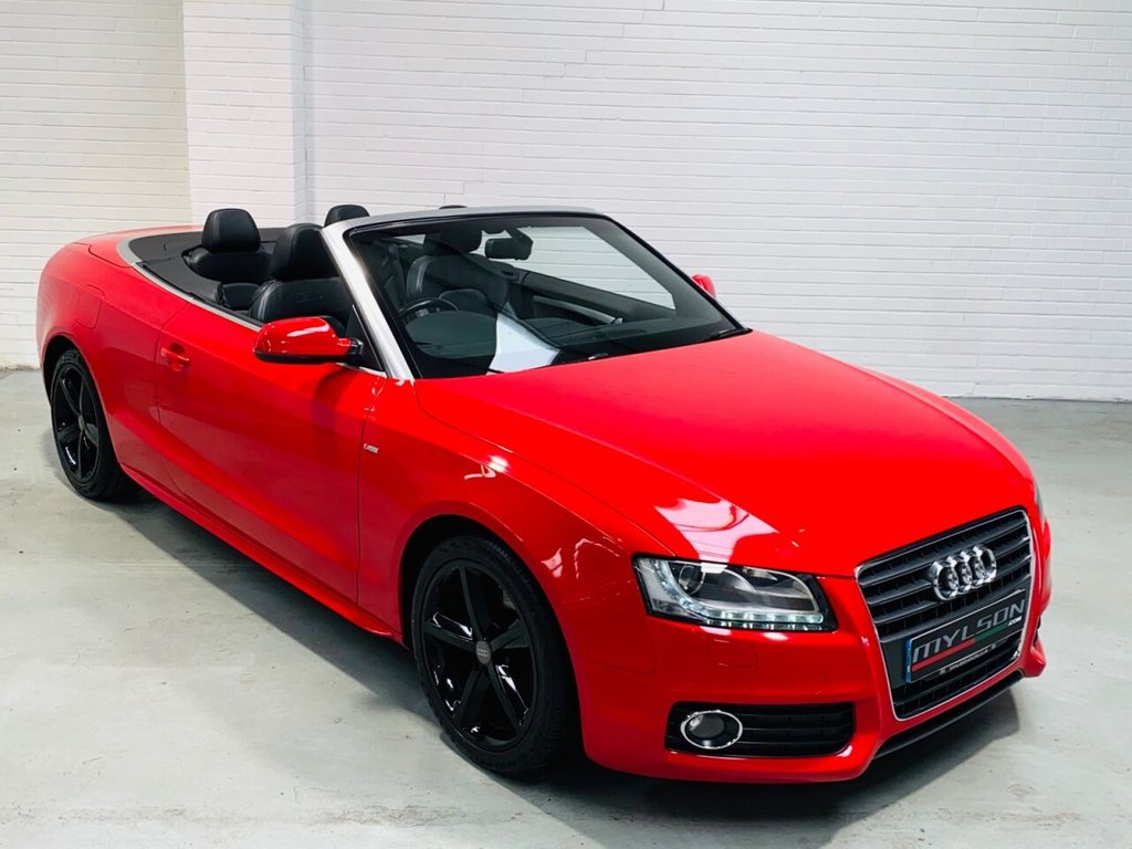 USED 2010 10 AUDI A5 2.0 TDI S LINE 2d 168 BHP Low Mileage A5 S-Line Convertible, Full Black Leather Interior, Gloss Black Wheels, Stunning