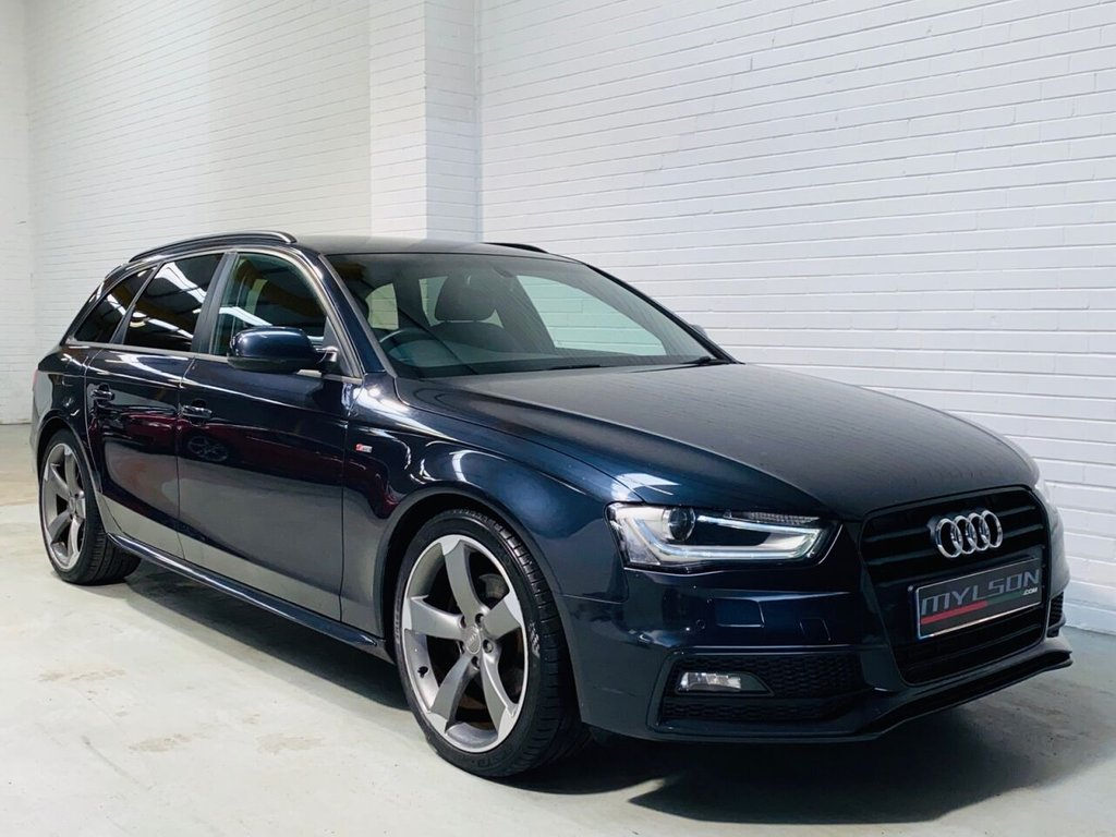 USED 2013 63 AUDI A4 2.0 AVANT TDI BLACK EDITION 5d 174 BHP Black Edition Spec, MMI Media/Sat Nav, Bang & Olufsen Audio System, Rotor Arm Wheels, Privacy Glass, Heated Leather Trim