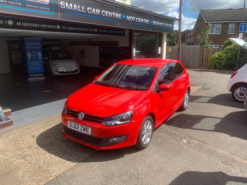 USED 2012 62 VOLKSWAGEN POLO 1.2 MATCH 3d 59 BHP BLUETOOTH - USB - AUX - AIRCON