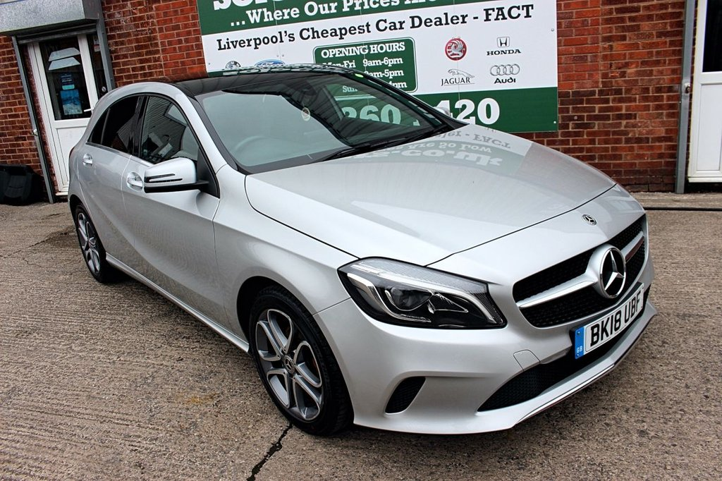 USED 2018 18 MERCEDES-BENZ A-CLASS 2.1 A 200 D SPORT EDITION PLUS 5d AUTO 134 BHP +AUTO +SAT NAV +GLASS ROOF.