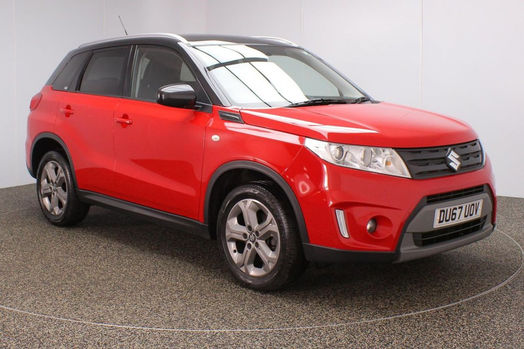 USED 2017 67 SUZUKI VITARA 1.6 SZ-T 5DR 118 BHP FULL SUZUKI SERVICE HISTORY + MANUFACTURER WARRANTY + SATELLITE NAVIGATION + REVERSE CAMERA + BLUETOOTH + CRUISE CONTROL + CLIMATE CONTROL + MULTI FUNCTION WHEEL + DAB RADIO + PRIVACY GLASS + XENON HEADLIGHTS + ELECTRIC WINDOWS + ELECTRIC MIRRORS + 17 INCH ALLOY WHEELS