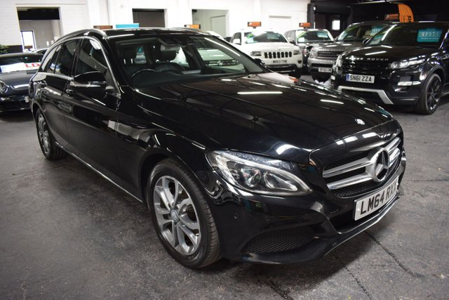 USED 2014 64 MERCEDES-BENZ C-CLASS 2.1 C220 BLUETEC SPORT 5d 170 BHP ESTATE LOVELY CONDITION - 5 MB + 1 INDY TO 88K - ONE PREVIOUS KEEPER -  FULL LEATHER - SAT NAV - HEATED SEATS - POWERBOOT