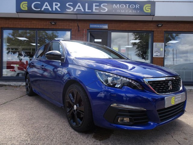 USED 2018 18 PEUGEOT 308 1.2 S/S GT LINE 5d 129 BHP FULL PEUGEOT SERVICE HISTORY, PANORAMIC ROOF, REVERSE CAMERA, SAT NAV, DAB RADIO, SIX SPEED GEARBOX, GLOSS BLACK ALLOY WHEELS, HPI CLEAR, 5 STAR RATED DEALERSHIP