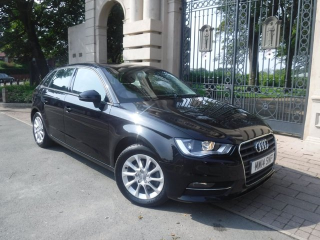 USED 2014 14 AUDI A3 1.4 TFSI SE 5d 139 BHP 1 OWNER*£30 TAX*NAV*BTOOTH*AC*SERVICE HISTORY*REAR PS