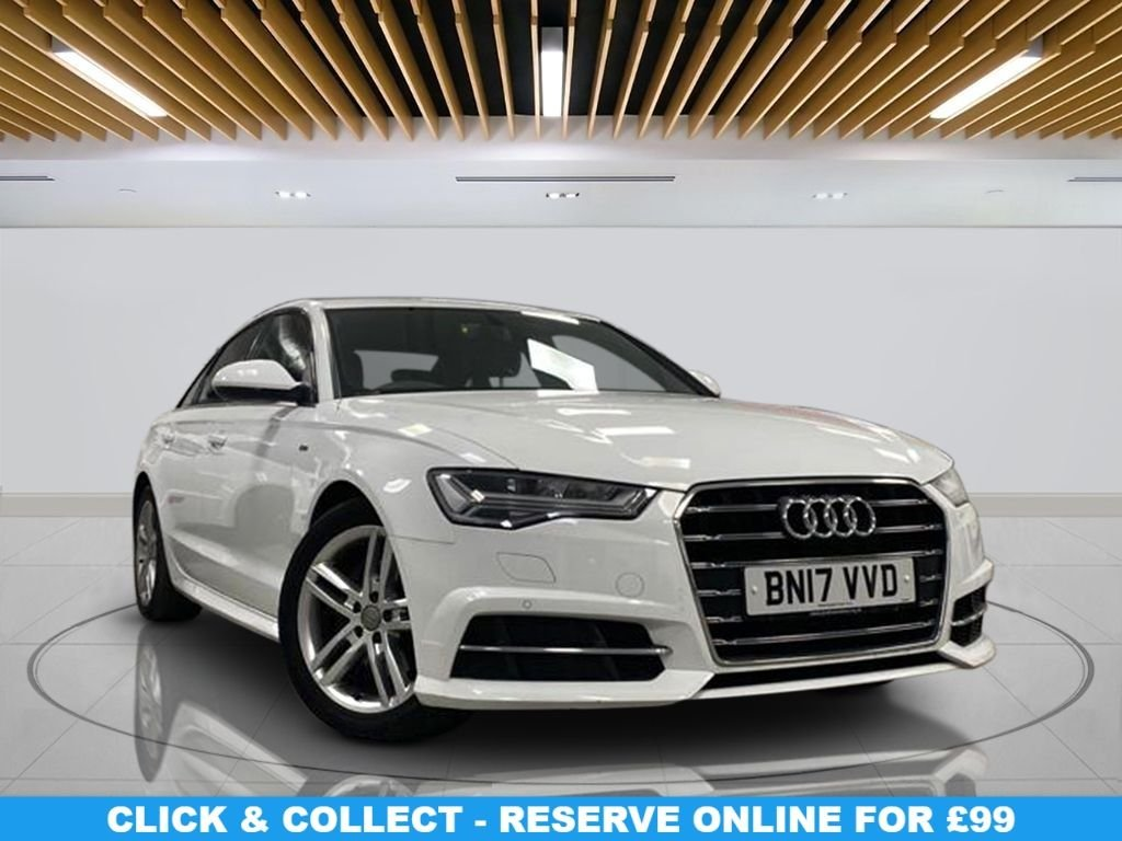 """USED 2017 17 AUDI A6 2.0 TDI ULTRA S LINE 4d 188 BHP 18"""" Alloy Wheels, Satellite Navigation, Leather upholstery, Climate Control, Parking Sensor(s)"""