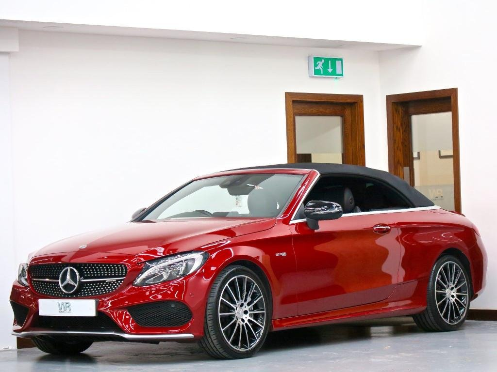 USED 2018 54 MERCEDES-BENZ C-CLASS 3.0 C43 V6 AMG (Premium Plus) Cabriolet G-Tronic+ 4MATIC (s/s) 2dr NIGHT EDITION +R/CAM+BURMESTER