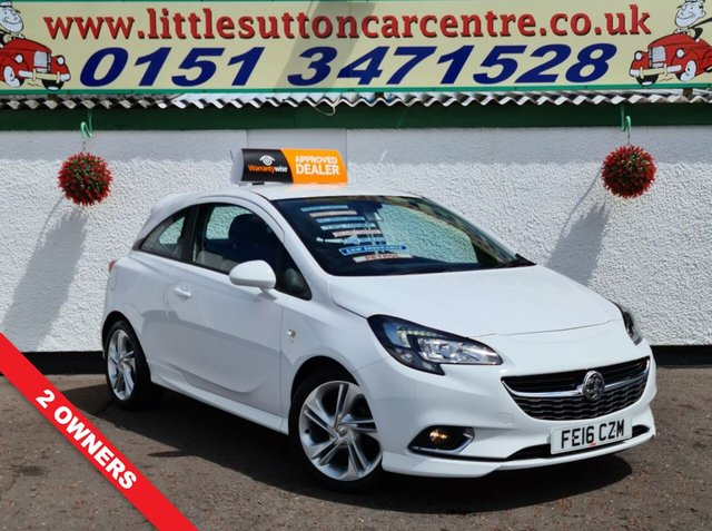 USED 2016 16 VAUXHALL CORSA 1.4 SRI VX-LINE ECOFLEX 3d 89 BHP FULL HISTORY, TWO OWNERS, 30,000 MILES, £30 ROD TAX