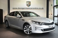 """USED 2017 17 KIA OPTIMA 1.7 CRDI 3 ISG 4DR 139 BHP Finished in a stunning metallic silver styled with 18"""" alloys. Upon opening the drivers door you are presented with half leather interior, full service history, satellite navigation, bluetooth, heated seats with memory, heated steering wheel, harman/kardon speakers, cruise control, DAB radio, rear view camera, multi functional steering wheel, xenon lights, parking sensors"""