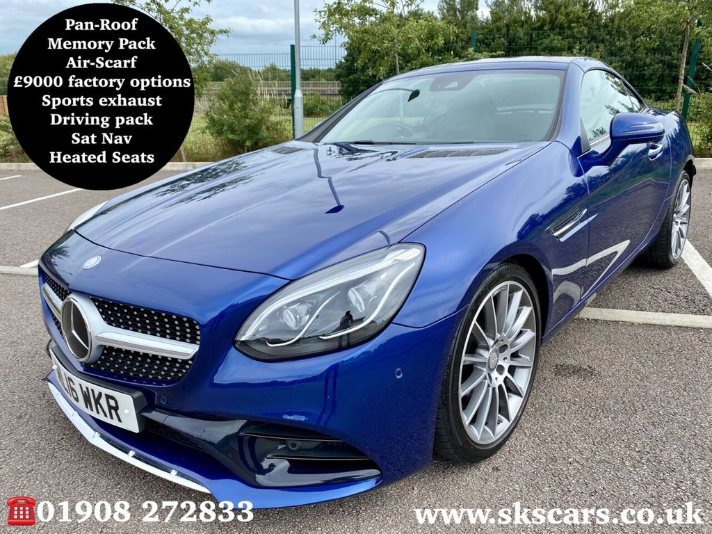 USED 2016 16 MERCEDES-BENZ SLC 2.0 SLC 200 AMG LINE 2d 181 BHP **12 MONTHS NATIONAL WARRANTY**