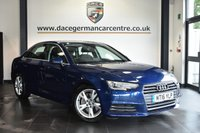 """USED 2016 16 AUDI A4 2.0 TDI ULTRA SPORT 4DR 188 BHP Finished in a stunning scuba metallic blue styled with 17"""" alloys. Upon opening the drivers door you are presented with cloth upholstery, full service history, satellite navigation, bluetooth, heated seats DAB radio, cruise control, multi functional steering wheel ,heated electric folding mirrrors, climate control, parking sensors"""