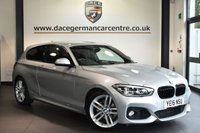 """USED 2016 64 BMW 1 SERIES 1.5 118I M SPORT 3DR AUTO 134 BHP Finished in a stunning glacier metallic silver styled with 18"""" alloys. Upon opening the drivers door you are presented with anthracite upholstery, full service history, satellite navigation, bluetooth, cruise control, DAB radio, Automatic air conditioning, LED headlights, Light package, rain sensors, Multifunction steering wheel, parking sensors"""