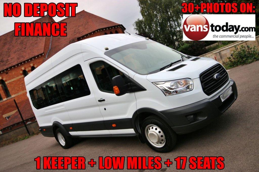 USED 2015 15 FORD TRANSIT 2.2 460 H/R BUS 17 SEAT 124 BHP + LOW MILES + EURO 6 1 KEEPER + LOW MILES + 17 SEATS + EURO 6 + NO DEPOSIT FINANCE