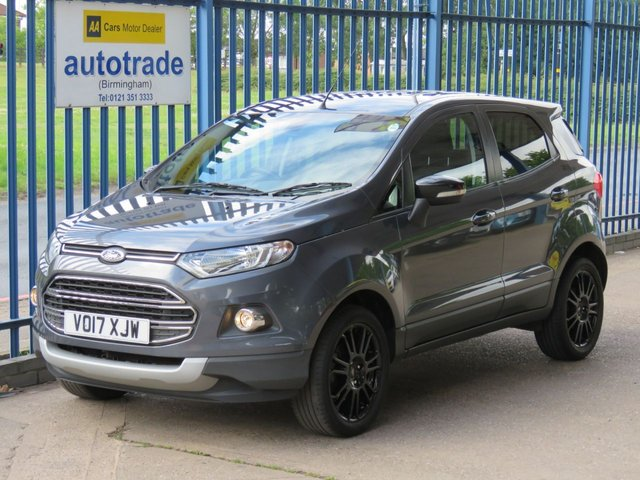 USED 2017 17 FORD ECOSPORT 1.0 TITANIUM S 5d 138 BHP, ulez compliant, rear sensors climate control dab bluetooth 140 BHP TURBO ECOBOOST, CRUISE CONTROL, 1/2 LEATHER, DAB AND BLUETOOTH, BLACK ALLOYS, PRIVACY GLASS, REAR PARKING SENSORS, FOG LIGHTS, ALLOY SILL  COVERS
