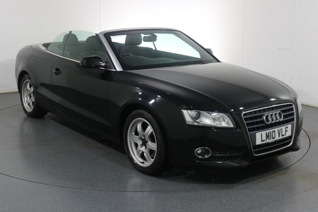 USED 2010 10 AUDI A5 2.0 TDI 2d CONVERTIBLE 168 BHP Company and ONE OWNER with 5 Stamp SERVICE HISTORY