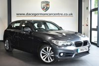 """USED 2016 16 BMW 1 SERIES 2.0 118D SPORT 5DR 147 BHP Finished in a stunning mineral metallic grey styled with 17"""" alloys. Upon opening the drivers door you are presented with anthracite upholstery, full service history, satellite navigation, bluetooth, DAB radio, sport seats, Multifunction steering wheel, Rain sensors, sport line"""