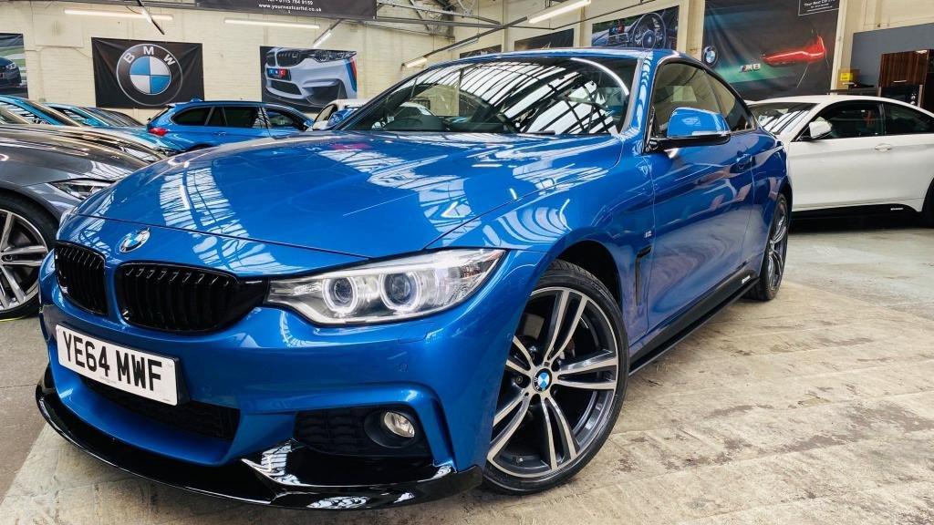 USED 2014 64 BMW 4 SERIES 3.0 430d M Sport xDrive 2dr PERFORMANCEKIT+REVCAM+MEMSEATS