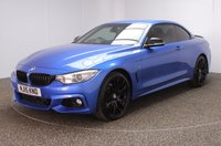 USED 2015 15 BMW 4 SERIES 3.0 435D XDRIVE M SPORT 2DR AUTO 309 BHP BMW SERVICE HISTORY + HEATED LEATHER SEATS + SATELLITE NAVIGATION PROFESSIONAL + PARKING SENSOR + BLUETOOTH + CRUISE CONTROL + CLIMATE CONTROL + MULTI FUNCTION WHEEL + DAB RADIO + XENON HEADLIGHTS + PRIVACY GLASS + ELECTRIC/MEMORY FRONT SEATS + RADIO/CD/AUX/USB + ELECTRIC WINDOWS + ELECTRIC/HEATED DOOR MIRRORS + 20 INCH ALLOY WHEELS IN BLACK