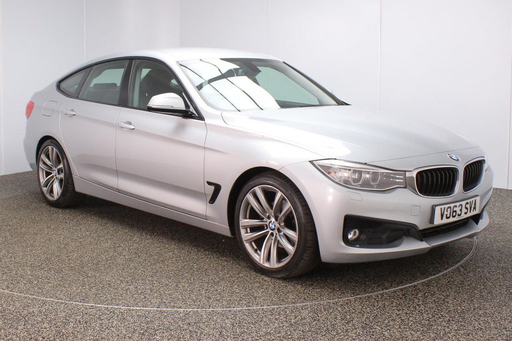 USED 2013 63 BMW 3 SERIES GRAN TURISMO 2.0 320D SPORT GRAN TURISMO 5DR AUTO 181 BHP BMW SERVICE HISTORY + HEATED LEATHER SEATS + SATELLITE NAVIGATION PROFESSIONAL + REVERSE CAMERA + PARKING SENSOR + BLUETOOTH + CRUISE CONTROL + CLIMATE CONTROL + MULTI FUNCTION WHEEL + XENON HEADLIGHTS + DAB RADIO + AUX/USB PORTS + ELECTRIC WINDOWS + ELECTRIC/HEATED DOOR MIRRORS + 19 INCH ALLOY WHEELS