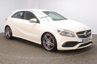 USED 2016 66 MERCEDES-BENZ A-CLASS 2.1 A 200 D AMG LINE 5DR 1 OWNER 134 BHP SERVICE HISTORY + £30 12 MONTHS ROAD TAX + HALF LEATHER SEATS + REVERSE CAMERA + BLUETOOTH + CRUISE CONTROL + CLIMATE CONTROL + MULTI FUNCTION WHEEL + ELECTRIC WINDOWS + ELECTRIC MIRRORS + 18 INCH ALLOY WHEELS