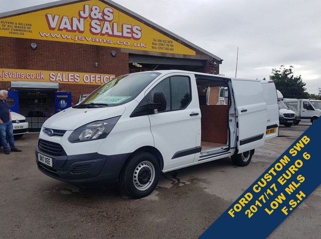 USED 2017 17 FORD TRANSIT CUSTOM 2.0 290 LR P/V 104 BHP SWB EURO 6 VAN 63K MLS  (((( LOTS MORE EURO 6 VANS ON SITE OVER 100 )))